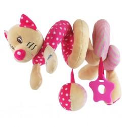 Hračka na postýlku Spirála Baby Mix Kočička růžová, Růžová