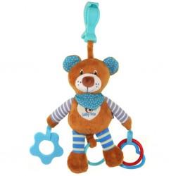 Plyšová hračka s vibrací Baby Mix medvídek modrý, Modrá