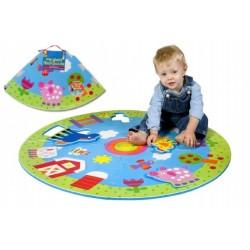 Pěnové puzzle kruhové - FARMA