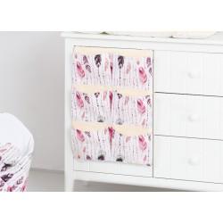 Kapsář 40 x 65 cm. Růžové peří