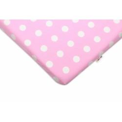 Bavlněné prostěradlo 60x120cm -  Bubble růžové