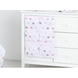 Kapsář 40 x 65 cm. Hvězdičky růžové a šedé