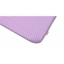 Bavlněné prostěradlo 60x120cm -  Tečky fialové