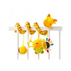 Hračka na postýlku spirála Sensillo Žirafa, Žlutá