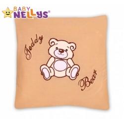 Polštářek 40x40 TEDDY BEAR Baby Nellys - sv. hnědý