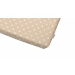 Bavlněné prostěradlo 60x120cm -  Puntíky béžové
