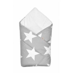 Zavinovačka KLASIK Baby Nellys - BIG STARS - šedé