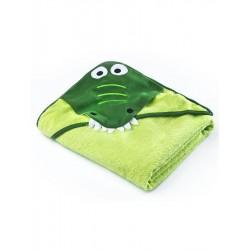 Dětská osuška Sensillo Water Friends 100x100 cm green crocodile, Zelená
