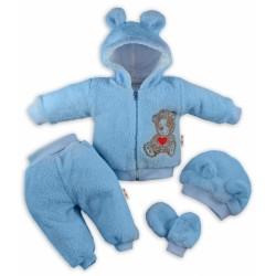5-ti dílný chlupáčkový komplet TEDDY - modrý
