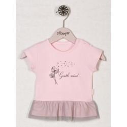 Bavlněné tričko RŮŽOVÁ PAMPELIŠKA - krátký rukáv