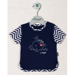 Bavlněné tričko OCEÁN - krátký rukáv
