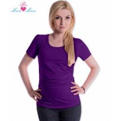 Triko JOLY bavlna nejen pro těhotné - fialové