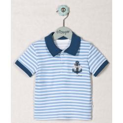 Bavlněné tričko KOTVIČKA PROUŽEK - krátký rukáv