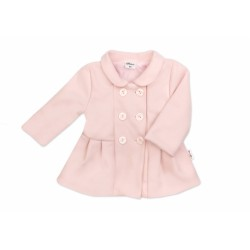 Baby Nellys Kojenecký flaušový kabátek, pudrově růžový