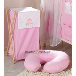 Luxusní praktický koš na prádlo - MRÁČEK růžový