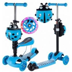 Tulimi Dětská koloběžka 2v1 Ladybird, modrá