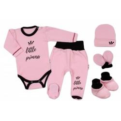 5-ti dílná soupravička do porodnice Princess - růžová