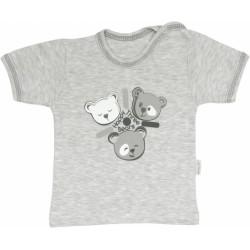 Bavlněné tričko Veselí medvídci - krátký rukáv