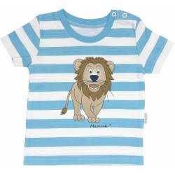Bavlněné tričko Lev proužek - krátký rukáv - proužky