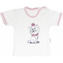 Bavlněné tričko Kočka Srdíčko - krátký rukáv