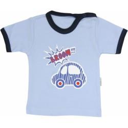 Bavlněné tričko Veselé autíčko - krátký rukáv
