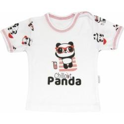 Bavlněné tričko Panda - krátký rukáv