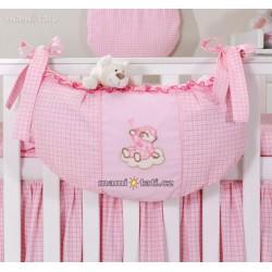 Luxusní kapsář na hračky - Mráček růžový kr.