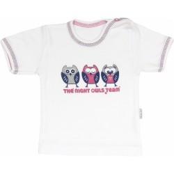 Bavlněné tričko Sovy - krátký rukáv