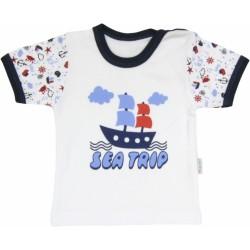 Bavlněné tričko Parník - krátký rukáv