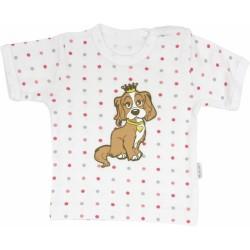 Bavlněné tričko Pejsek - krátký rukáv