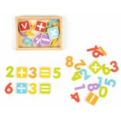 Eco Toys Dřevěné magnetky - Číslice a Písmena