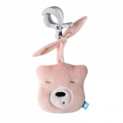 Szumisie Mini šumící Medvídek - hlava s klipem- sv. růžová