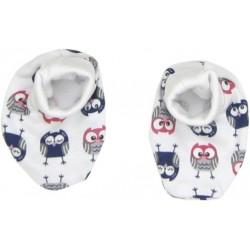 Kojenecké botičky/ponožtičky Sovy