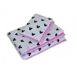 2-dílné povlečení Mickey, bavlněné - růžová, černá, B19