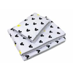 2-dílné povlečení Mickey, bavlněné - šedá, žlutá, B19