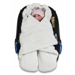 Dětská zavinovačka, fusák polar, bio bavlna - smetana