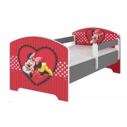 Dětská postel Disney - Minnie Srdíčko - bez zábran