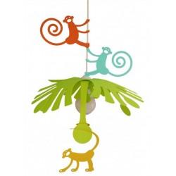 Dětská lampa opičky - různé barvy