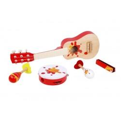 Sada dřevěných hudebních nástrojů - 5 ks