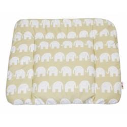 Přebalovací podložka 70x75cm, Sloni bílí v béžové
