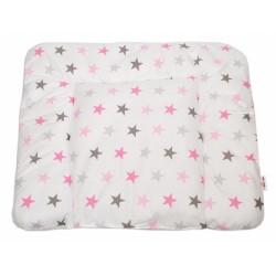 Přebalovací podložka 70x75cm, Hvězdičky růžové, šedé