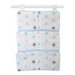 Kapsář 40 x 65 cm - Hvězdičky modré, šedé