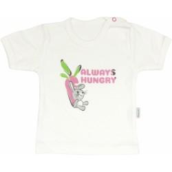 Bavlněné tričko Zajíček - krátký rukáv