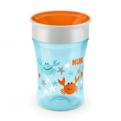 Dětský hrníček Magic NUK 360° modro-oranžový, Oranžová