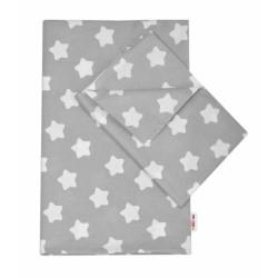 Bavlněné povlečení  140 x 200/70x80 - Sweet Stars  - šedá