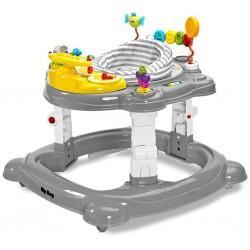 Dětské chodítko Toyz HipHop 3v1 šedé, Šedá