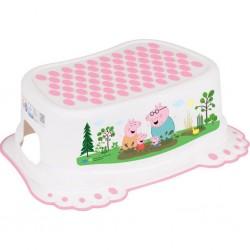 Dětské protiskluzové stupátko do koupelny Peppa Pig white-pink, Růžová
