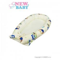 Hnízdečko pro miminko New Baby béžové se sovičkami