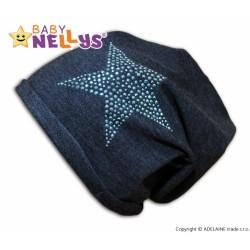 Bavlněná čepička Baby Nellys ® - Hvězdička modrá