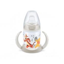 Kojenecká láhev na učení NUK 150 ml Disney Medvídek Pu-Tiger béžová, Béžová